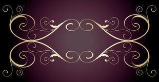 design.jpg floral dourado Foto de Stock Royalty Free