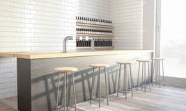 Design-Kaffeestube stockbild