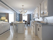 Design of kitchen in mediterranean style Stock Photography