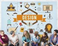 Design-kreative Ideen vorbildliches Planning Sketch Concept Stockbild