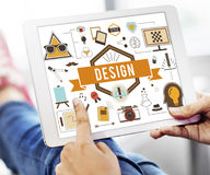 Design-kreative Ideen vorbildliches Planning Sketch Concept Stockfotografie