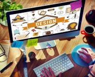 Design-kreative Ideen vorbildliches Planning Sketch Concept Lizenzfreie Stockbilder