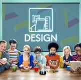 Design-kreative Ideen vorbildliches Sketch Draft Concept Stockfotos