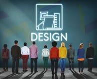 Design-kreative Ideen vorbildliches Sketch Draft Concept Lizenzfreies Stockfoto