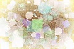 Design-Kunsthintergrund der abstrakten Form generativer Muster, Hintergrund, Rechteck, digitales u. Mode Stockfotografie