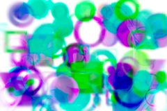 Design-Kunsthintergrund der abstrakten Form generativer Muster, Kreis, Papier, Segeltuch u. Beschaffenheit Stockbilder