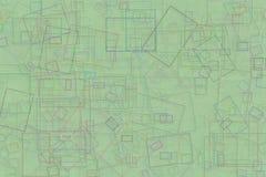Design-Kunsthintergrund der abstrakten Form generativer Muster, Malerei, Details, geometrisch u. Oberflächen Lizenzfreie Stockbilder