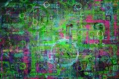 Design-Kunsthintergrund der abstrakten Form generativer Muster, Rechteck, Tapete, Hintergrund u. Anschlag Stockbilder