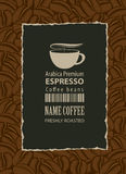 Design label for coffee beans Royalty Free Stock Photo