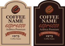Design label for coffee beans Stock Photos