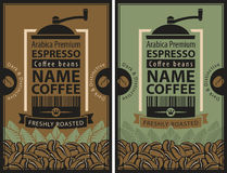 Design label for coffee beans Stock Image