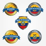 Design label of made in Ecuador. Vector illustration. Design label of made in Ecuador royalty free stock photography