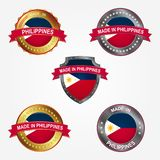 Design label of made in Philippines. Vector illustration stock illustration