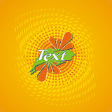Design label of orange juice Stock Photography