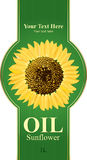 Design labels sunflower oil Stock Images
