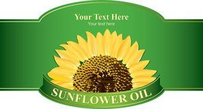 Design labels sunflower oil Stock Photography