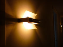 Design lamp on the wall in a hallway Royalty Free Stock Images