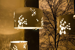 Design lamps installations Stock Images