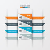 Design layout banner Orange , blue, gray color Royalty Free Stock Photo