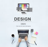 Design Layout Computer Software Interface Concept Stock Photography