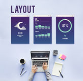 Design Layout Mobile Interface Concept Royalty Free Stock Photo