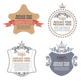 Design layout stiker and label. Royalty Free Stock Photography