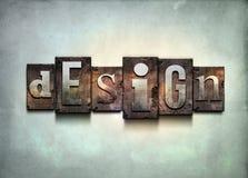 Design letterpress. Stock Photo