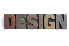Design letterpress blocks Stock Photos