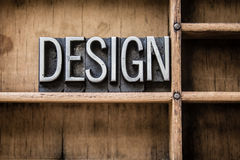 Design Letterpress Type in Drawer Royalty Free Stock Images