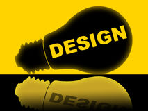 Design Lightbulb Means Designs Creativity And Conception Stock Images