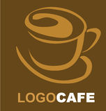 Design of logo for coffee shop Stock Photo
