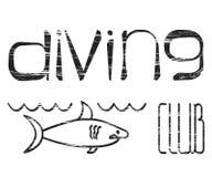 Design logo Diving Club Stock Images