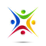 Design logo element Abstract people icon Stock Photos