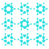 Abstract water molecule vector template Royalty Free Stock Photography