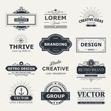 Design logo and monograms Stock Photo