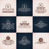 Design logo set. Calligraphic pattern elegant Stock Image