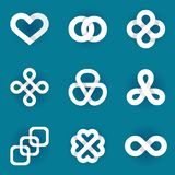 Design  logo templates - infinity symbols Stock Photography