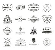 Design logo vintage. Retro Vintage Insignias or Logotypes set. Vector design elements, business signs, logos, identity, labels, badges and objects Stock Photography