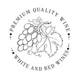 Design of logo for wine. Stock Photography