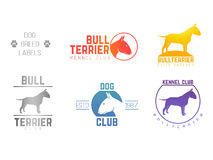 Design logotypes, labels set of bill terrier god Stock Photo