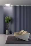 Design of the lounge room with wavy wall Stock Images