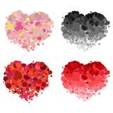 Design love heart vector element Stock Photos