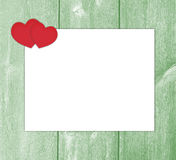 Design love letter with hearts white paper. Royalty Free Stock Photos