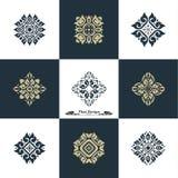 Design-Luxusschablonen-Satz Swash-Elemente Art Vector Vintage St Lizenzfreies Stockbild