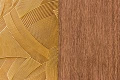 Design made by a combination of lines pattern. With wood like background Royalty Free Stock Photos