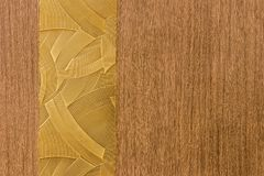 Design made by a combination of lines pattern. With wood like background Royalty Free Stock Photography