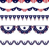 Happy Fourth July Horizontal Banner Stock Photography