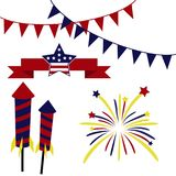 Happy Fourth July Misc Objects Stock Photos