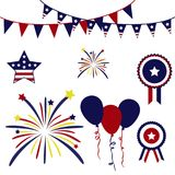 Happy Fourth July Misc Objects Royalty Free Stock Photography