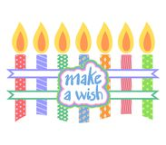 Make a wish message. Design of make a wish message Royalty Free Stock Images